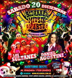 Fiesta Fiesta Sabado 20 de Diciembre (Auditorio Oeste – Haedo)