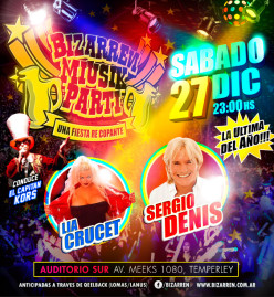 Fiesta Fiesta Sabado 27 de Diciembre (Auditorio Sur – Temperley)
