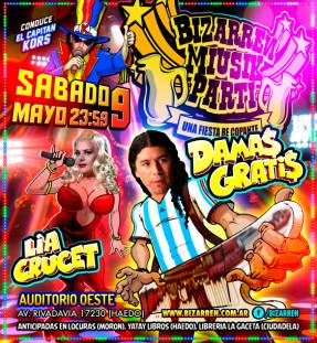 Fiesta Fiesta Sabado 9 de Mayo (Auditorio Oeste – Haedo)