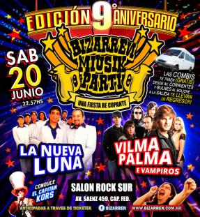 Fiesta EDICION 9º ANIVERSARIO Sabado 20 de Junio (Salón Rock Sur – Cap. Fed.)